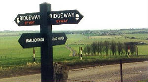 between Marlborough and The Ridgeway